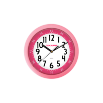 Ceas de perete Clockodile roz, diam. 25 cm