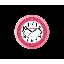 Nástenné hodiny Clockodile ružová, pr. 25 cm