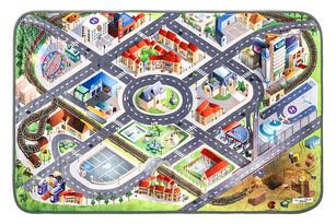Dětský koberec Ultra Soft Letiště, 100 x 150 cm