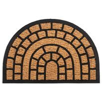 Kokosová rohožka Cihly půlkruh, 40 x 60 cm