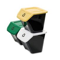 Kosz do segregacji śmieci Ecobin 30 l, 3 szt.