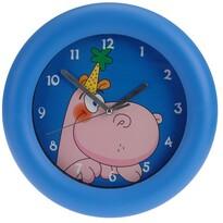 Nástěnné hodiny Hippo modrá, 26 cm
