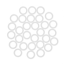 UH kroužky bez háčku, bílá, 1,1 / 1,6 cm