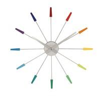 Nextime Plug Inn Color 2610di nástenné hodiny, pr. 60 cm