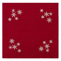 Vánoční ubrus Vločky červená, 85 x 85 cm