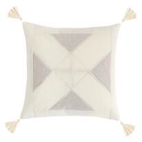 Obliečka na vankúšik Peru Trojuholníky prírodná, 40 x 40 cm