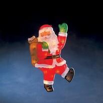 Mikołaj na okno 20 żarówek, ciepła biała