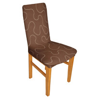 Multielastický poťah Lazos na stoličku hnedá, sada 2 ks