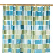 Sprchový závěs Zeď zelená, 180 x 180 cm