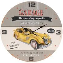 Nástěnné hodiny Žluté auto, pr. 33 cm