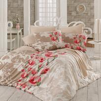 Bavlnené obliečky Lamie červená, 140 x 200 cm, 70 x 90 cm