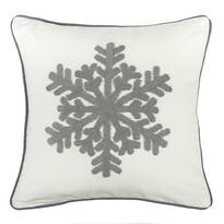 Faţă de pernă Snowflake, alb, 40 x 40 cm