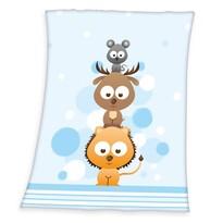 Pătură de copii Fynn Sweet Animals, 75 x 100 cm