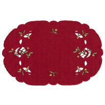 Vánoční ubrus jmelí červená, 30 x 45 cm