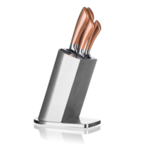 Set cuţite Banquet Copper, 5 buc. şi stativ inox