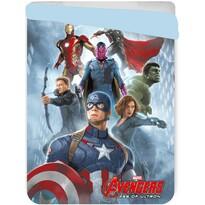 Dětská prošívaná přikrývka Avengers, 180 x 260 cm