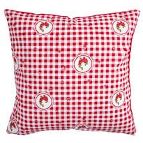 Poszewka na poduszkę Country kratka czerwony, 40 x 40 cm