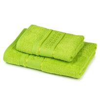4Home Sada Bamboo Premium osuška a ručník zelená, 70 x 140 cm, 50 x 100 cm