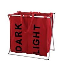 Kôš na svetlú a tmavú bielizeň so stojanom, červená