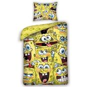 Detské bavlnené obliečky Sponge Bob, 140 x 200 cm, 70 x 80 cm