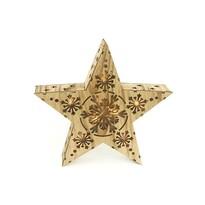 Vianočná drevená hviezda Lille, 7 LED