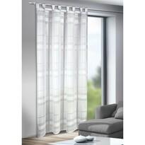 Záclona s poutky Mandy bílá, 135 x 245 cm