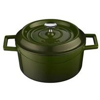 Lava Liatinový hrniec okrúhly 32 cm, zelená
