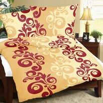 Flanelové obliečky Retro oranžová, 140 x 200 cm, 70 x 90 cm