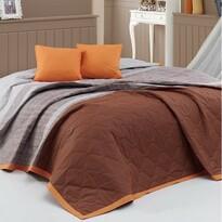 BedTex Narzuta na łóżko Spencer brązowy, 220 x 240 cm, 2x 40 x 40 cm