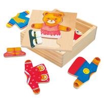 Bino Puzzle šatní skříň Medvědice