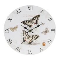 Nástěnné hodiny Butterfly, béžová