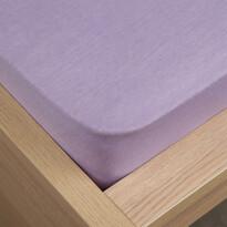 Jersey prostěradlo Klasik fialová