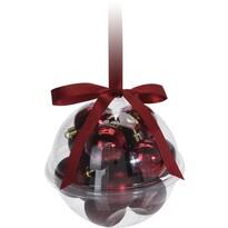 Xmas Ball karácsonyi dísz készlet, piros, 14 db