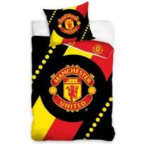 Bavlnené obliečky Manchester United Black, 140 x 200 cm, 70 x 80 cm
