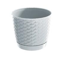 Ratolla Round műanyag virágcserép, fehér