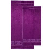 4home sada Bamboo Premium osuška a uterák fialová, 70 x 140 cm, 50 x 100 cm