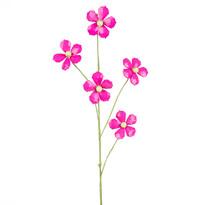 Dekor virág gyöngyökből rózsaszín, 68 cm
