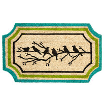 Kokosová rohožka Ptáčci na větvi, 45 x 75 cm