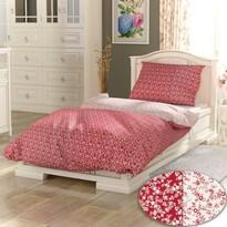 Bavlnené obliečky PROVENCE Collection Daisy červená, 140 x 200 cm, 70 x 90 cm