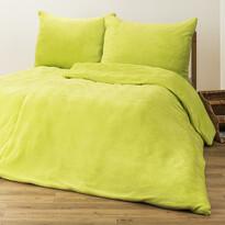 4home obliečky mikroflanel zelená, 140 x 200 cm, 70 x 90 cm