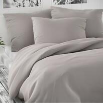 Lenjerie de pat din satin Luxury Collection, gri deschis, 200 x 200 cm, 2 buc. 70 x 90 cm