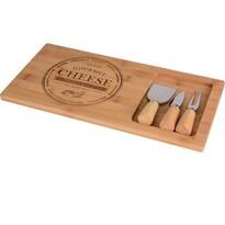 Bambusowa deska do sera z wyposażeniem 38 x 18 x 1,5 cm