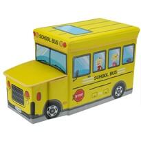 Cutie de jucării şi scăunel Autobuz de şcoală