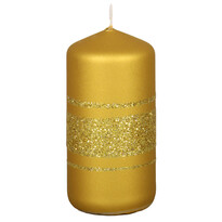 Świeczka bożonarodzeniowa  Fénix, złota
