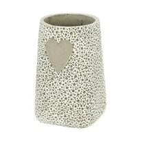 Betonová váza Srdce béžová, 20 cm