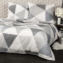 Bavlněné povlečení Triangl šedá, 140 x 200 cm, 70 x 90 cm