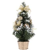 Vianočný dekorovaný stromček, zlatá