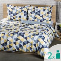 2 seturi lenjerie 4Home Trianglu albastru, 2 x 140 x 200 cm, 70 x 90 cm