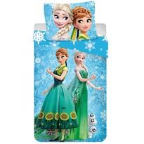 Dětské bavlněné povlečení Ledové království Frozen snowflake, 140 x 200 cm, 70 x 90 cm