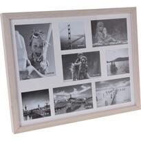 Fotorámeček Memories na 8 fotografií hnědá,47 x 37 x 3,5 cm